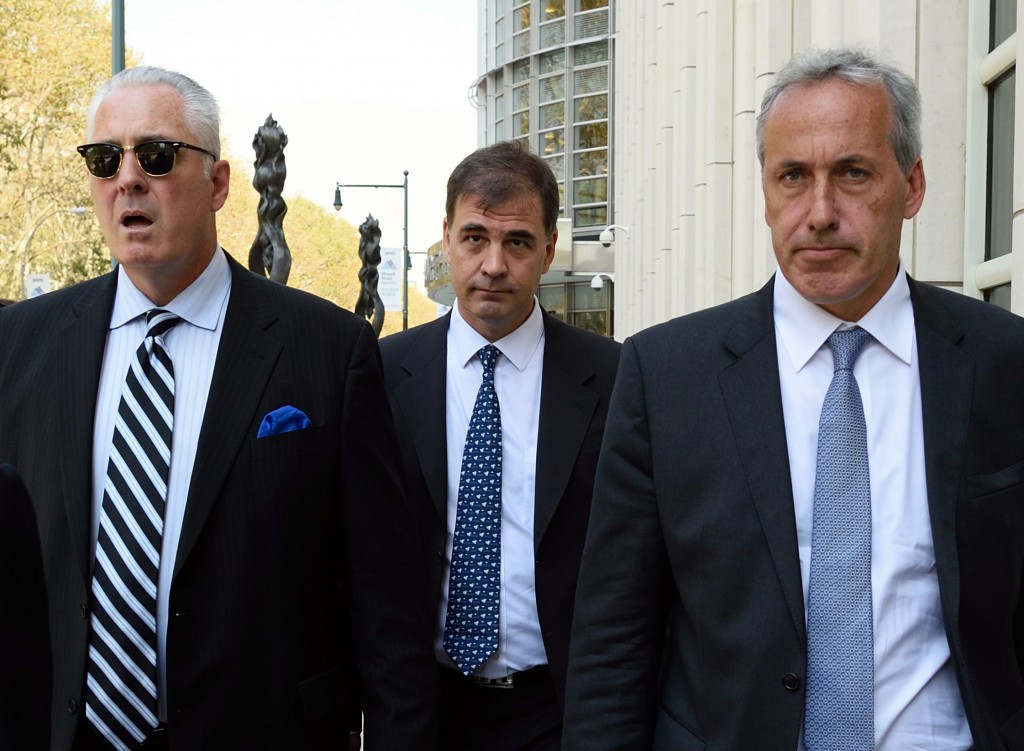 Alejandro Burzaco, centre, pleaded guilty to charges of racketeering conspiracy, wire fraud conspiracy and money laundering conspiracy in 2015 ©Getty Images