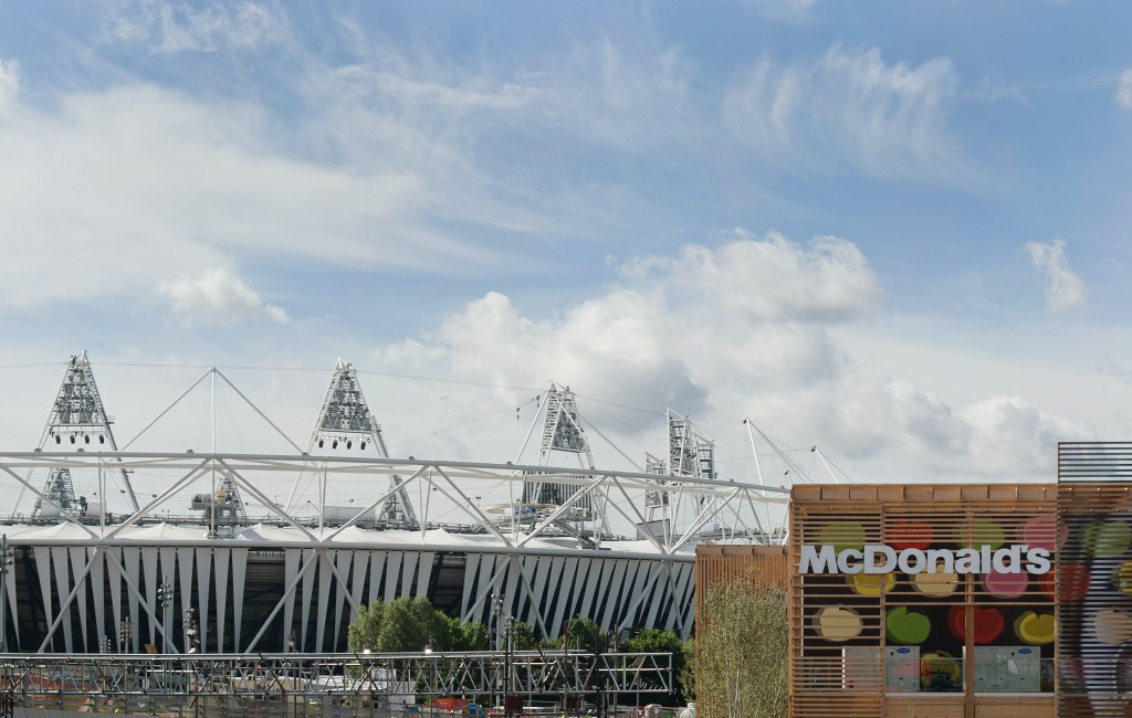McDonald's has been involved with the Olympics since the Winter Games at Innsbruck in 1976, with restaurants for spectators like this one at London 2012 part of the multi-million dollar deal ©Getty Images