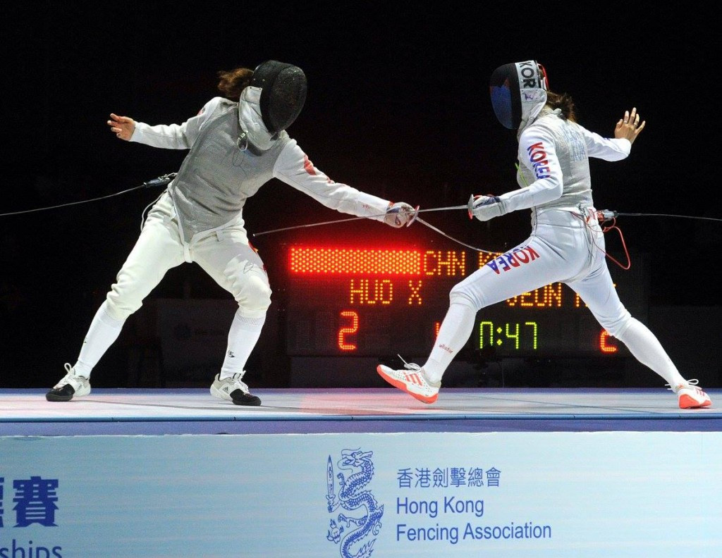 China's Huo wins foil gold at Asian Fencing Championships