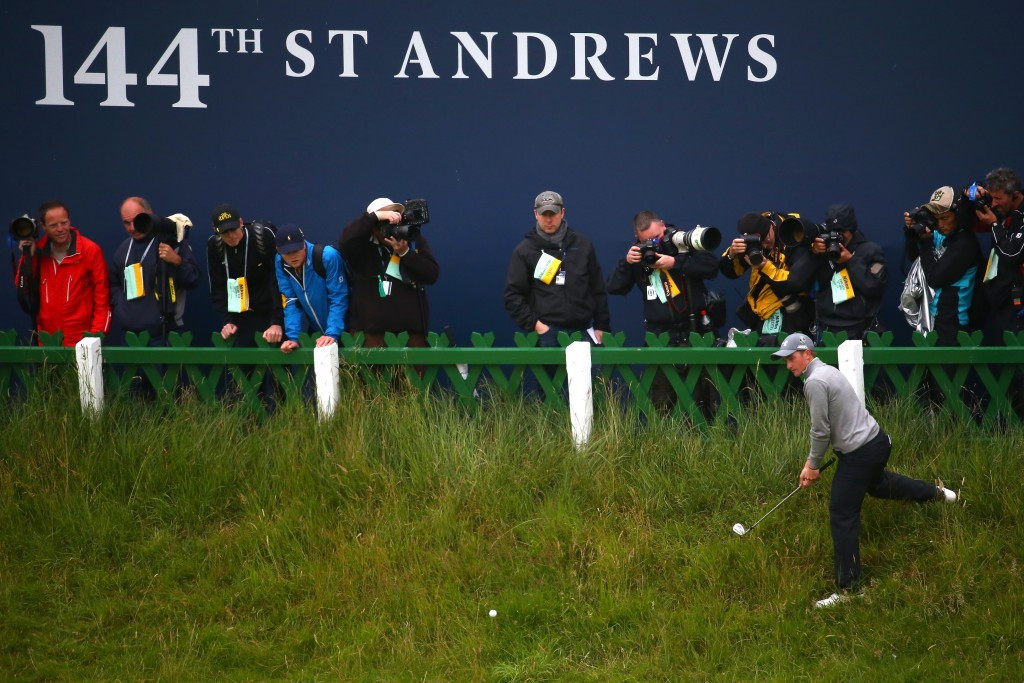 Ireland's Paul Dunne slipped from overnight leader to 30th place as dreams of becoming the first amateur to win The Open since Bobby Jones in 1930 faded