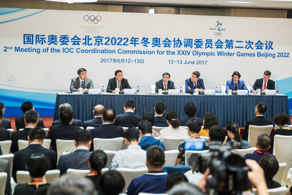 IOC officials were positive about Beijing 2022's progress so far ©Getty Images