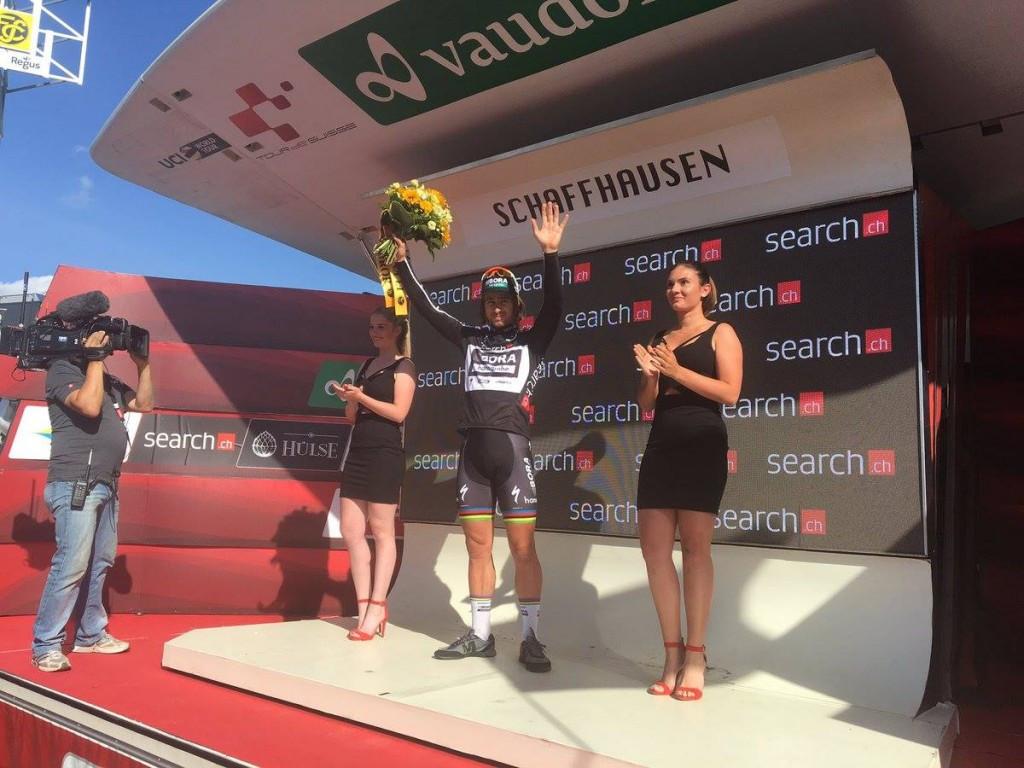 Sagan wins penultimate stage of Tour de Suisse
