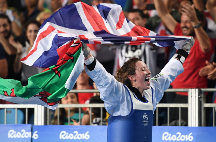 Britain's Jade Jones celebrates her second Olympic gold in Rio - she will seek a first world title in Muju ©Getty Images