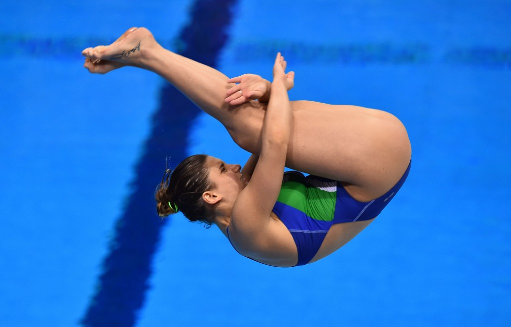 Italy's Elena Bertocchi triumphed in the women's 1m springboard event ©Getty Images
