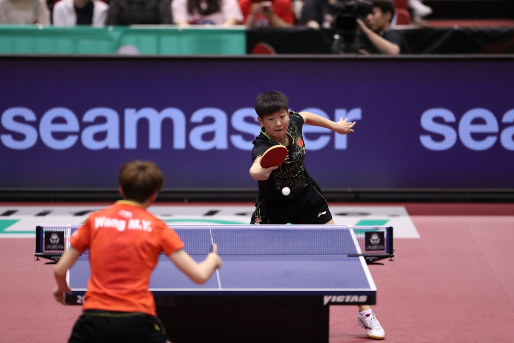 Sun Yungsha stunned Chinese team-mate and world number five Chen Meng to clinch the women's singles title ©ITTF