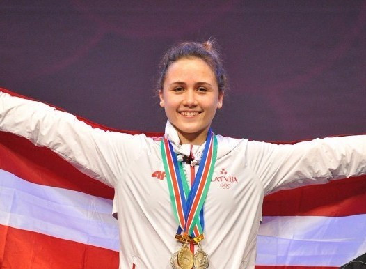 Latvia's Rebekah Koha won the women's 58kg competition in Tokyo ©Getty Images