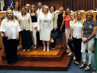 """The Hellenic Olympic Committee held a """"Women in Action"""" meeting ©HOC"""