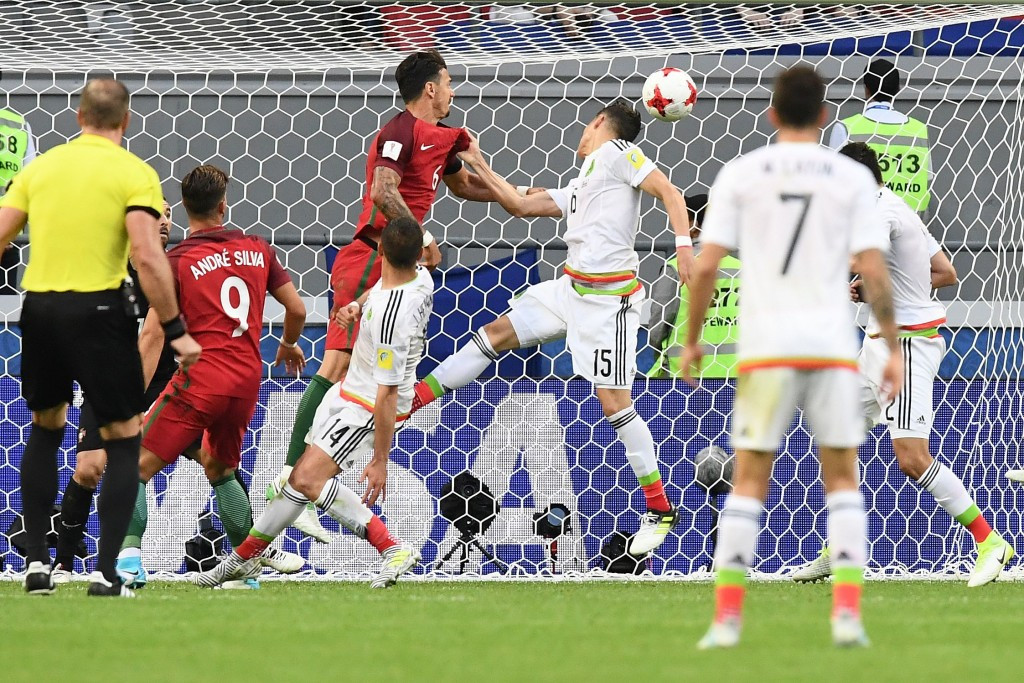 Hector Moreno headed in a late equaliser for Mexico against Portugal ©Getty Images