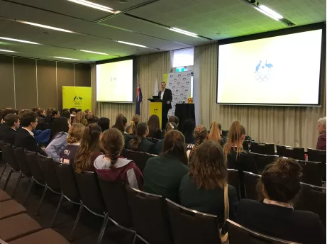 Australian Olympic Committee presents 70 students with Pierre de Coubertin award