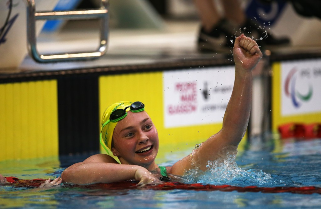 Maddison Elliott, winner of nine Paralympic Games medals, including four gold, was among this year's student recipients in New South Wales of the Pierre de Coubertin award given out by the Australian Olympic Committee ©Getty Images