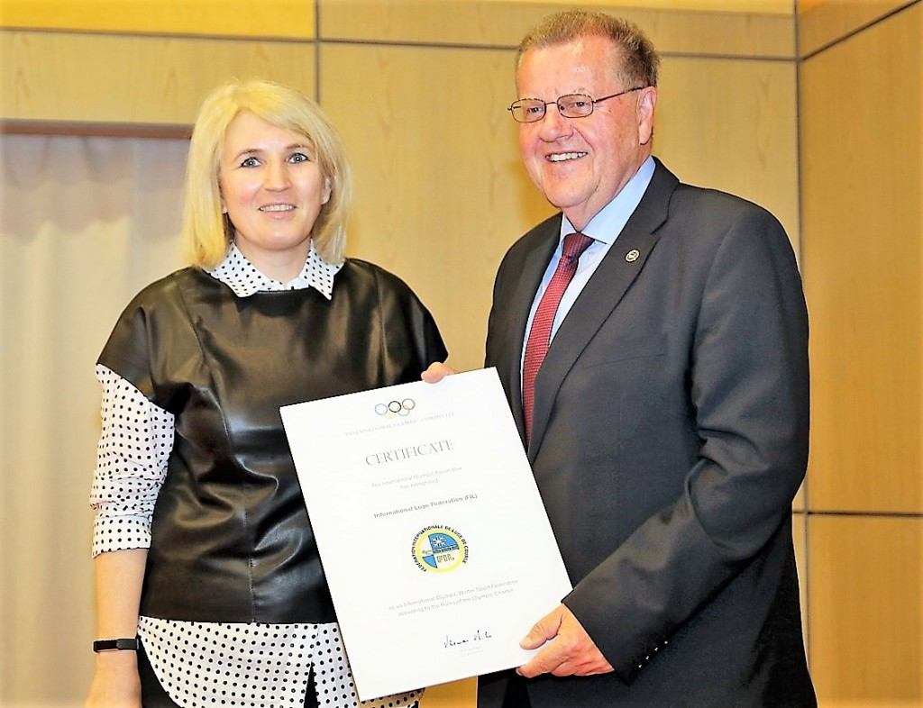 International Luge Federation hold ceremony to mark 60th birthday