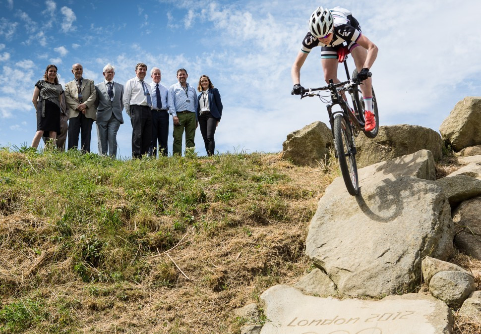 Victoria Pendleton helps mark opening of London 2012 mountain bike at Hadleigh Park to general public