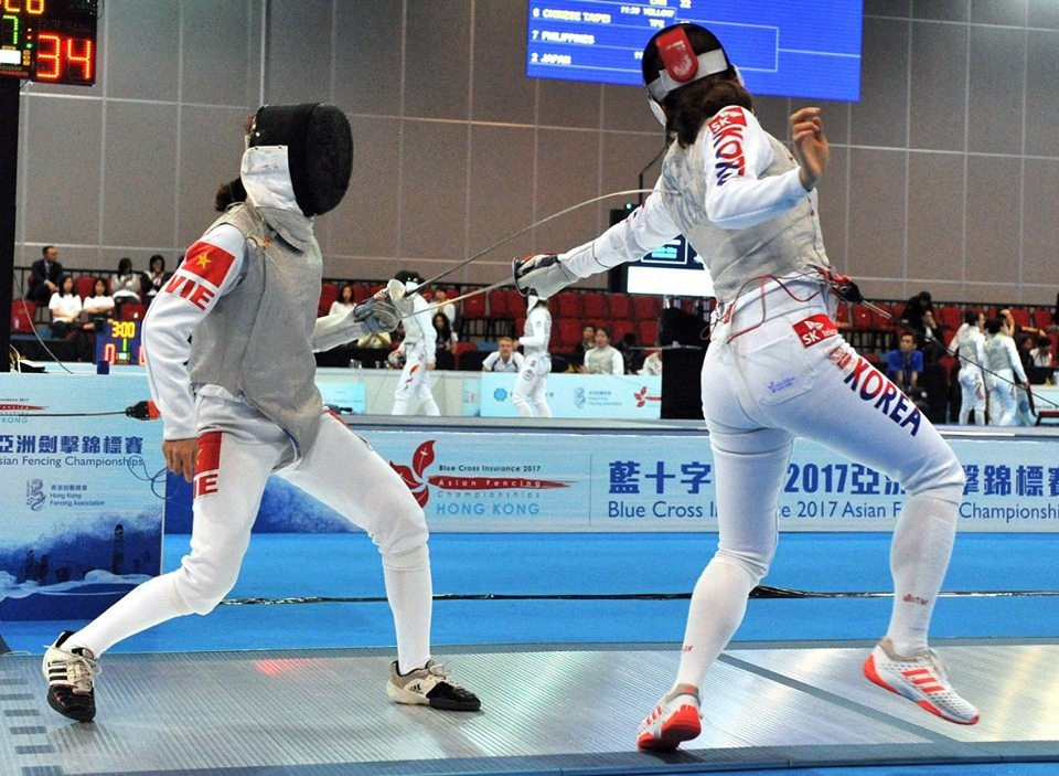 South Korean fencers were in commanding form once again at the Asian Fencing Championships ©FIE/Facebook
