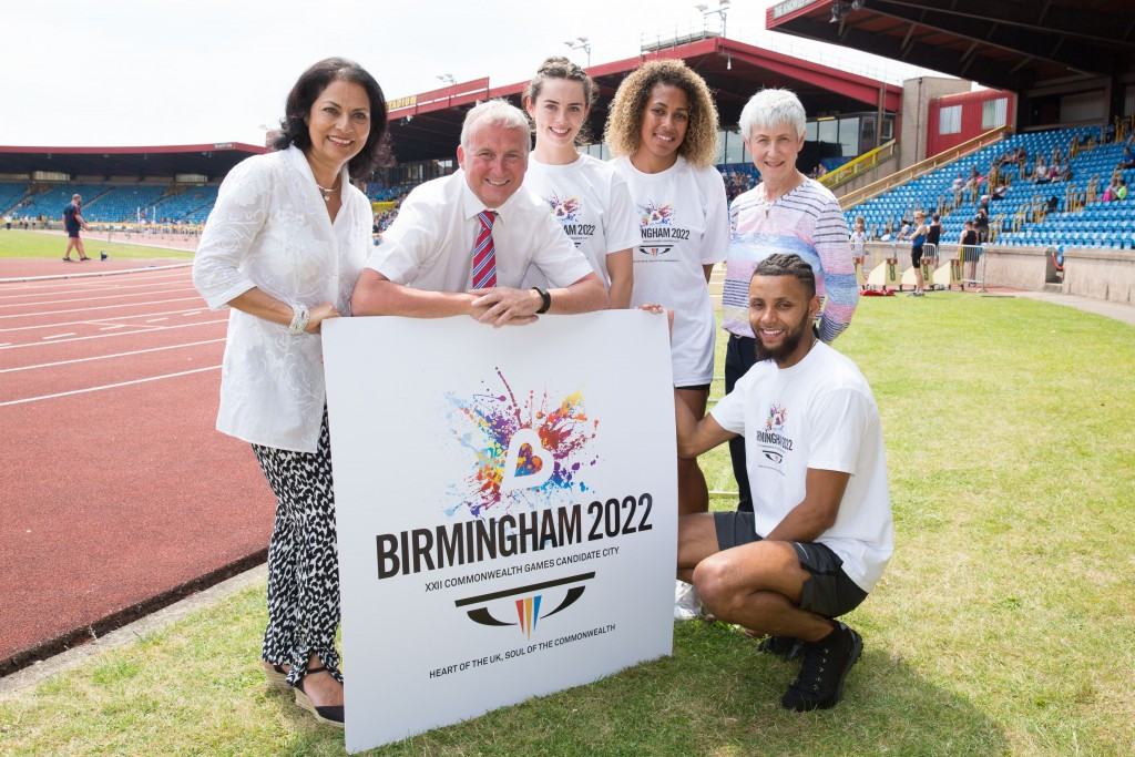 Birmingham Deputy Leader Ian Ward, second left, fears his city has lost its status as England's second city after Manchester hosted the 2002 Commonwealth Games ©Getty Images