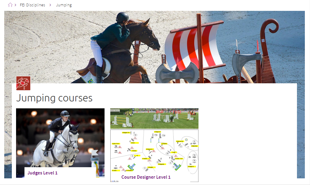 The platform is designed to give the equestrian community an