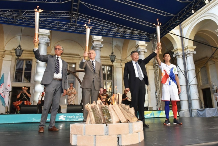 Taipei 2017 Torch Relay begins in Turin