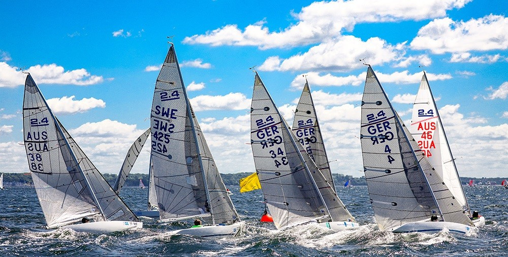 Competition at the World Para Sailing Championships began today ©World Sailing