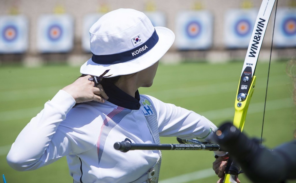 Olympic champion Chang produces highest qualification score at Archery World Cup