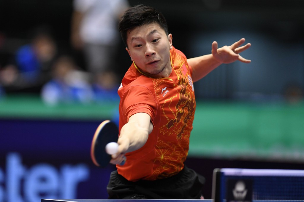 Ma Long eased into round two of the ITTF China Open today ©Getty Images
