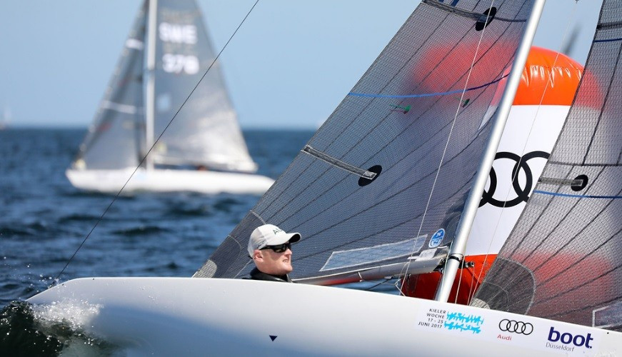 Matt Bugg of Australia was third in today's only race ©World Sailing