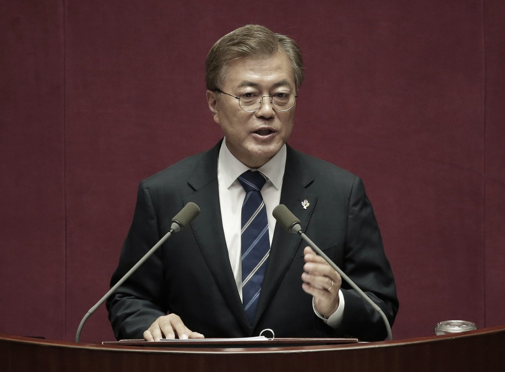 South Korea's President Moon Jae-in has pledged greater dialogue with North Korea in a bid to reduce tensions ©Getty Images