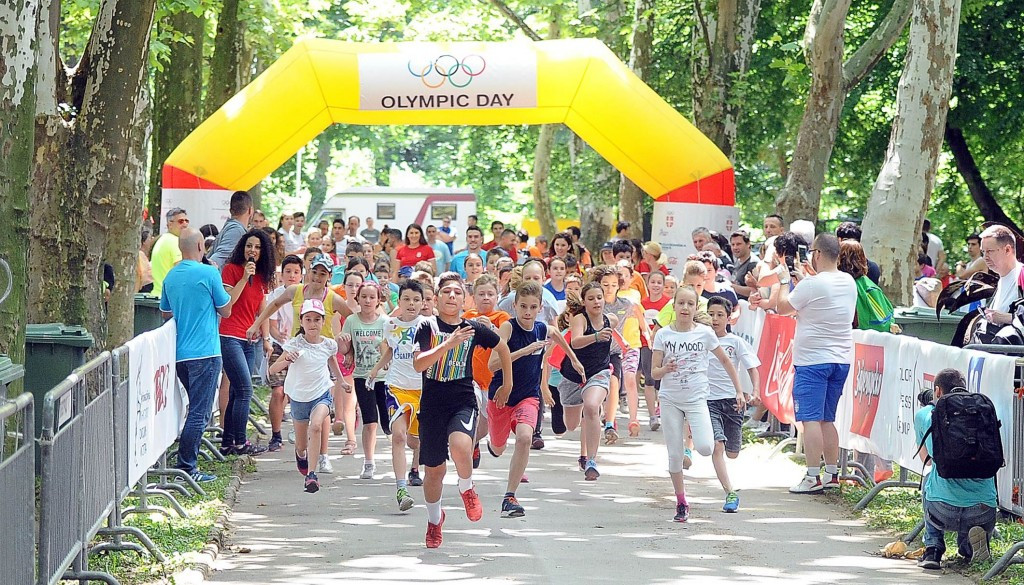 A series of runs were held around Serbia to mark Olympic Day ©NOC Serbia