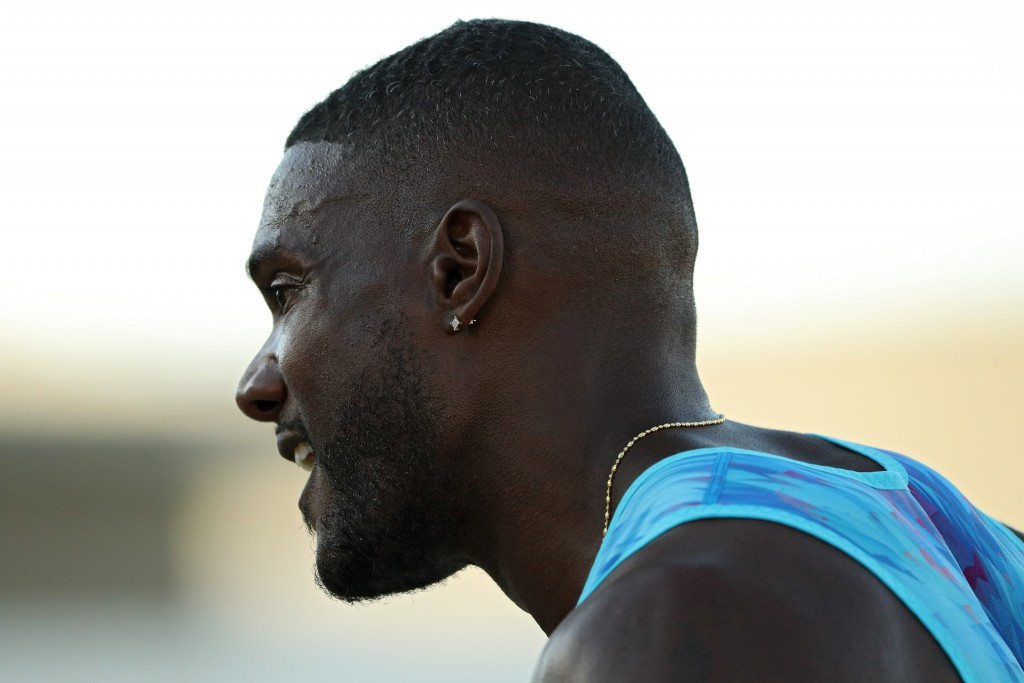 Justin Gatlin after winning the US 100m title in Sacramento ©Getty Images