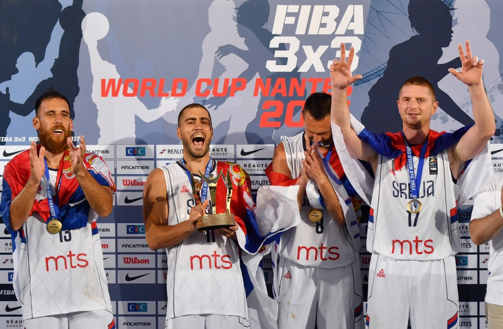 The FIBA Executive Committee attended the final day of the 3x3 World Cup in Nantes ©Getty Images