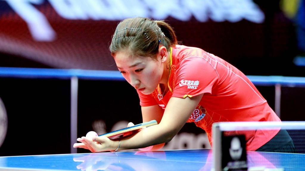 Second seed Liu Shiwen suffered a shock defeat against fellow Chinese Sun Yingsha in the women's singles semi-finals ©ITTF/Deng Xiaozhao