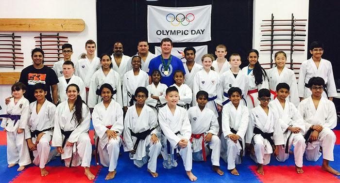 Karatekas across the world celebrate Olympic Day