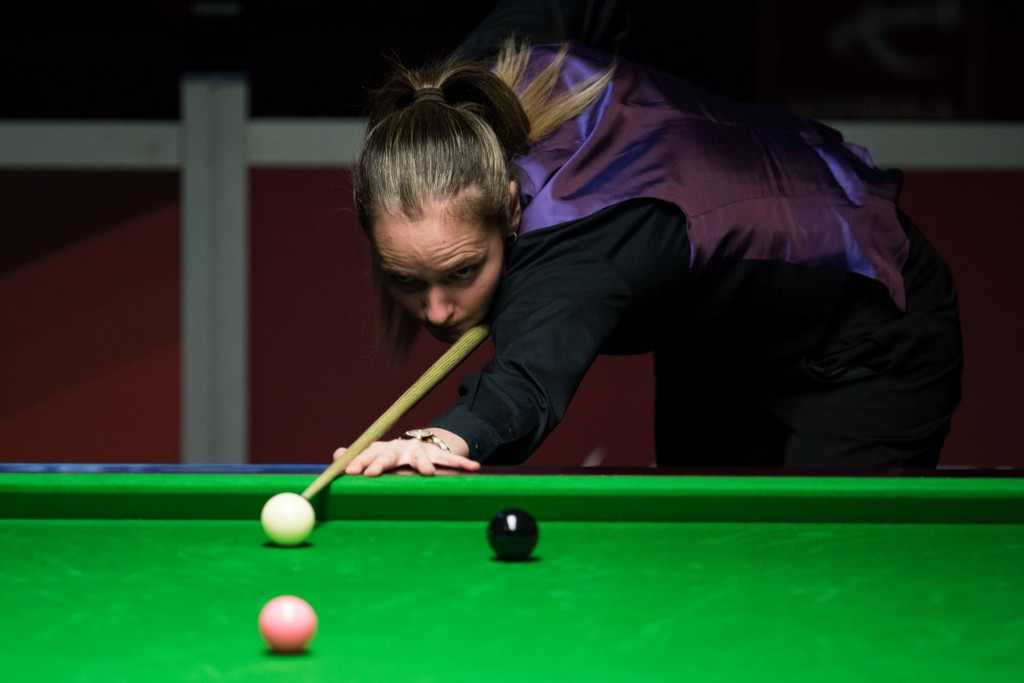 England's Reanne Evans competed against the men at this year's World Snooker Championships in Sheffield ©Getty Images