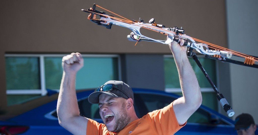 Schloesser beats world number one in shoot-off to claim men's compound title at Archery World Cup