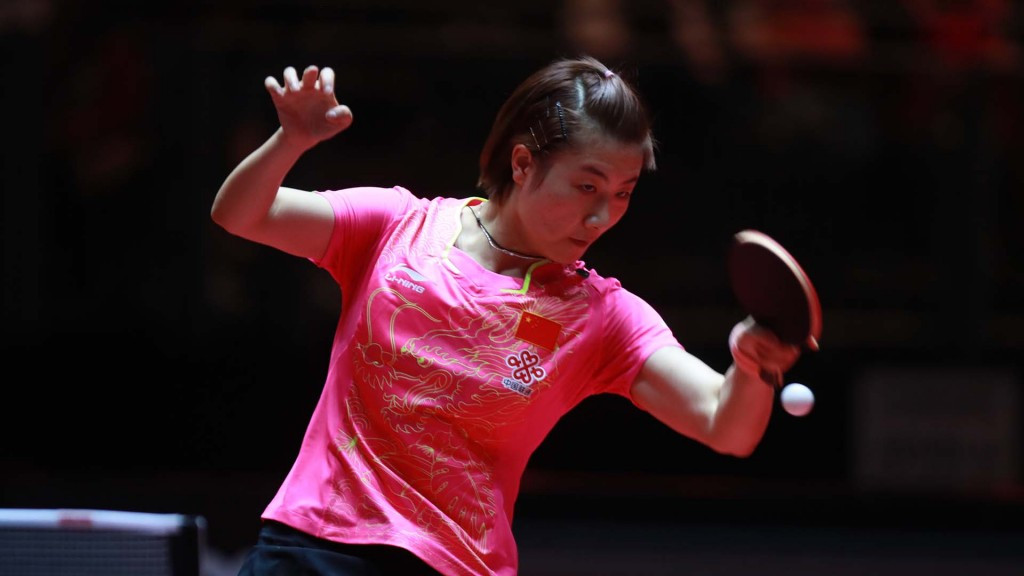 China's Ding Ning ended the remarkable run of compatriot Sun Yingsha in the women's singles final ©ITTF/Rémy Gros