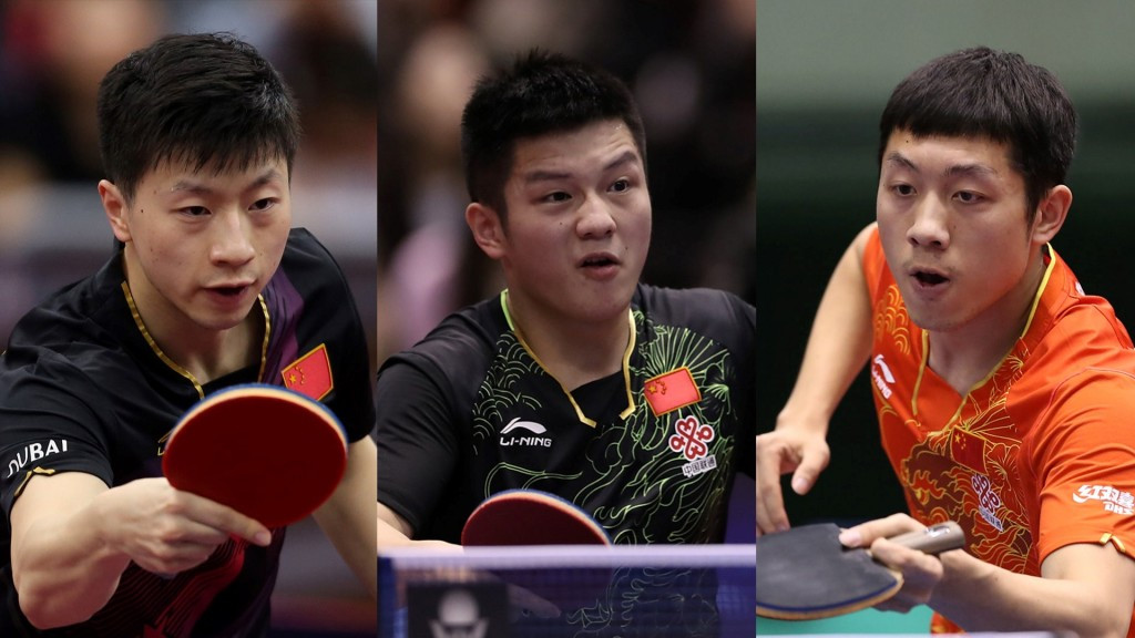 Ma Long, Fan Zhendong and Xu Xin all failed to turn up for their round-of-16 matches at the China Open ©ITTF