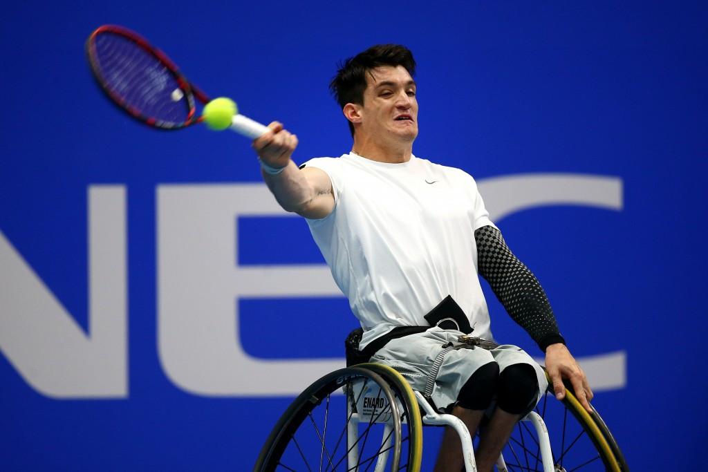 Gustavo Fernandez, pictured, beat Gordon Reid in the men's final ©Getty Images