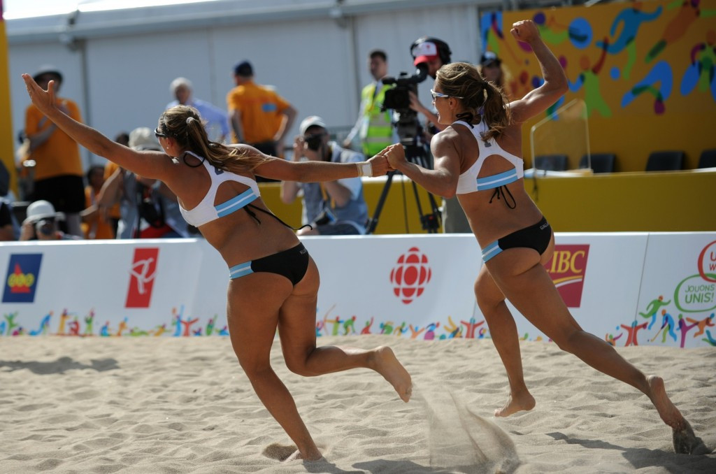 Argentina's Georgina Klug and Ana Gallay held their nerve to win the women's gold