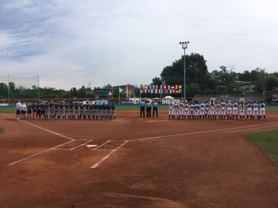 Four countries win opening two matches on first day of Women's Softball European Championship
