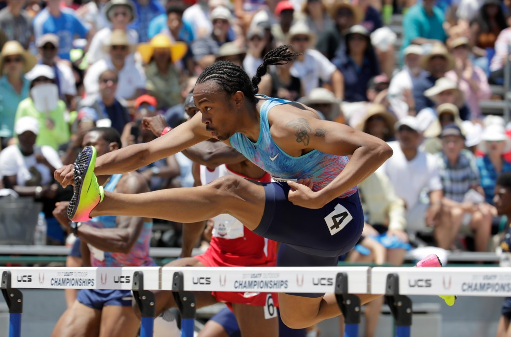Merritt earns healthy tilt at the world title but Lyles halted by injury at USATF Trials