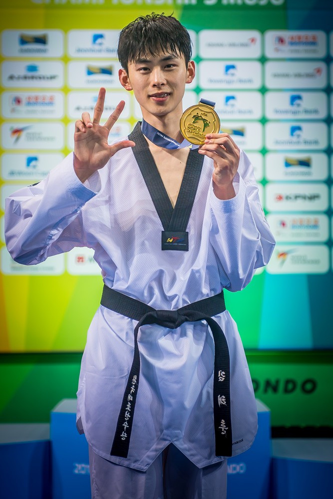 Kim admits he was lucky to claim third World Taekwondo Championships crown