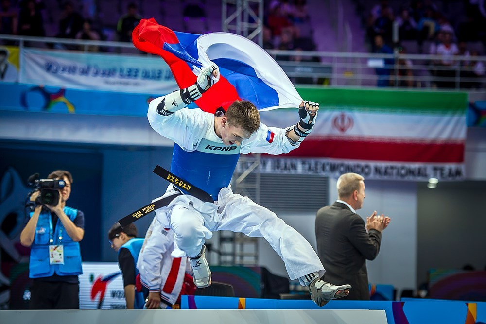 Russia and Serbia claim gold medals as action continues at World Taekwondo Championships
