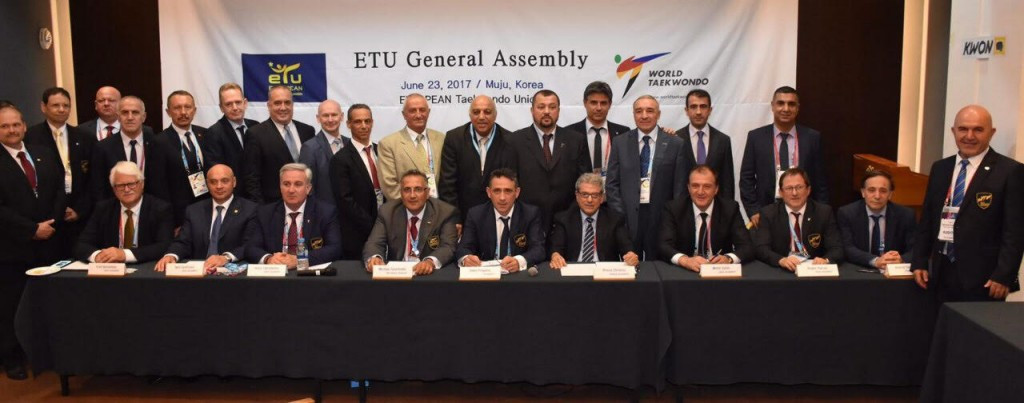 Sakis Pragalos has been re-elected President of the European Taekwondo Union during the body's General Assembly in Muju ©ETU