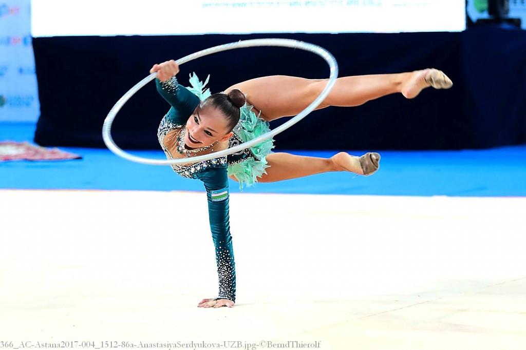 Serdyukova shines during Asian Senior Rhythmic Gymnastics Championships