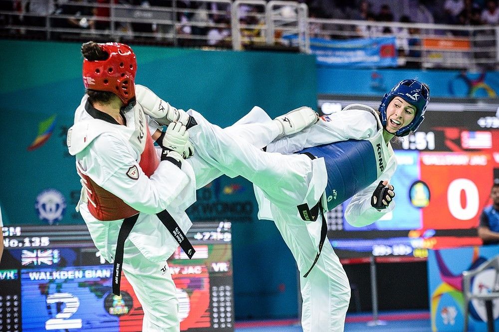 Walkden defends World Taekwondo Championships title as hosts South Korea claim fourth gold