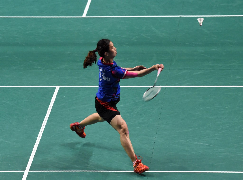 Hsu Ya Ching won her first round match in front of a home crowd ©Getty Images