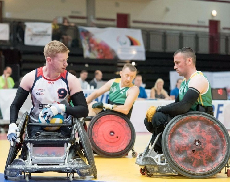 Great Britain defeated Ireland 65-27 today ©IWRF