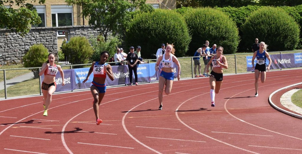Athletics action continued at the Island Games today ©Gotland 2017