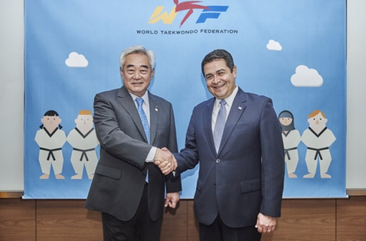 Honduras President calls for WTF to help develop sport in his country