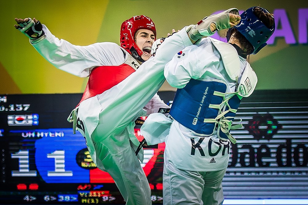 Serbia's Milica Mandic beat home favourite and defending champion Oh Hye-ri in the women's 73kg final at the World Taekwondo Championships today ©World Taekwondo