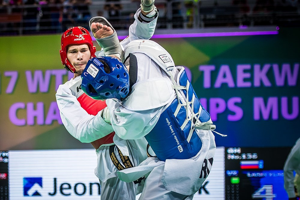 Germany's Alexander Bachmann beat Russia's Vladislav Larin in the final of the men's 87kg category ©World Taekwondo