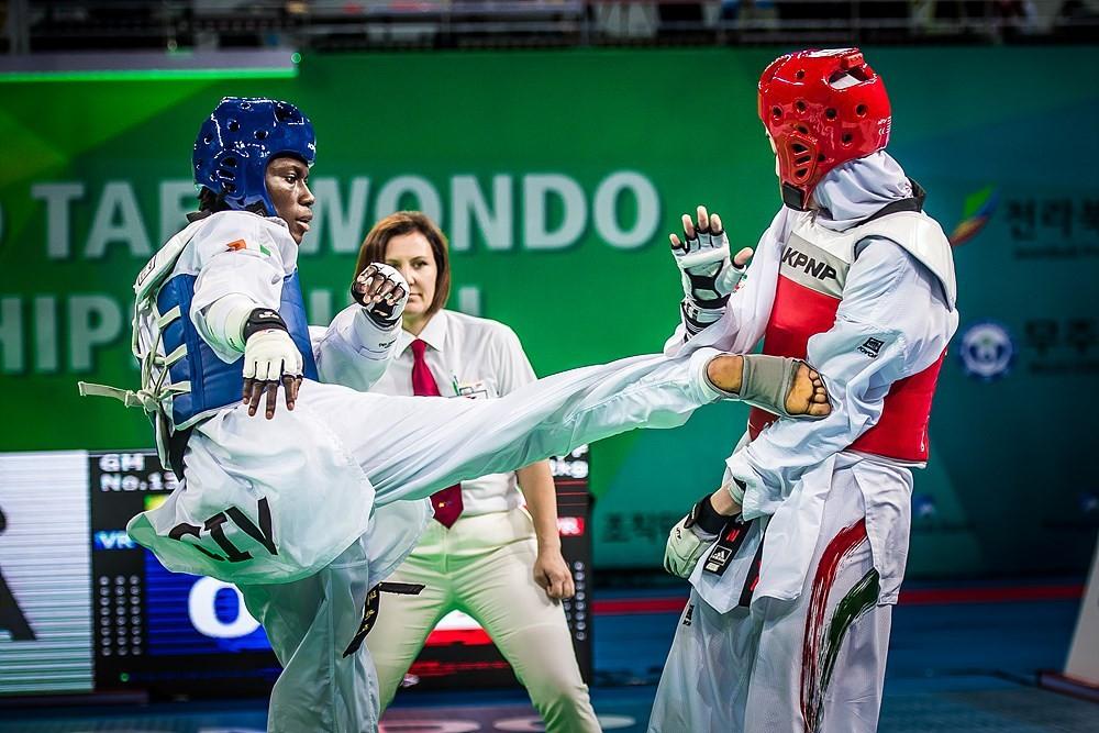Ivory Coast's Ruth Gbagbi struck gold in the women's 62kg category ©World Taekwondo